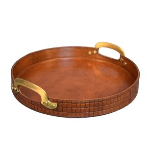 Gautier Genuine Leather Bar Serving Tray
