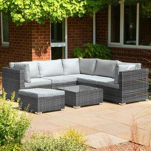 Montoya 5 Seater Rattan Corner Sofa Set By Sol 72 Outdoor