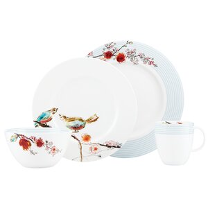 Simply Fine Chirp Stripe 4 Piece Place Setting, Service for 1
