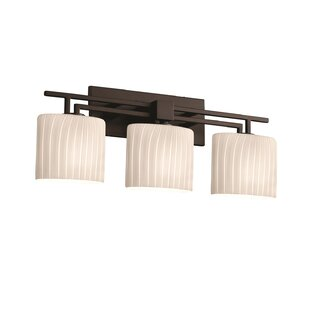 World Menagerie Bissett 3-Light Drum/Cylinder Vanity Light