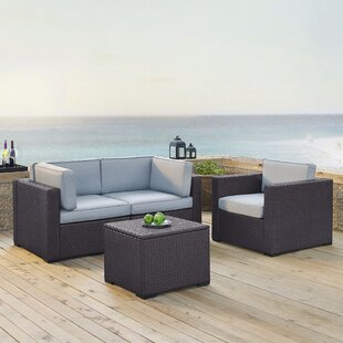 Dinah 4 Piece Sectional Set With Cushions by Highland Dunes Best