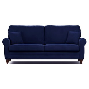 Navy Blue Leather Couch | Wayfair