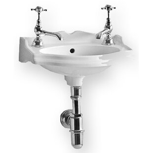 China Ceramic 15 Wall Mount Bathroom Sink with Overflow By Whitehaus Collection