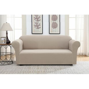 Solid Pique Box Cushion Sofa Slipcover by Winston Porter