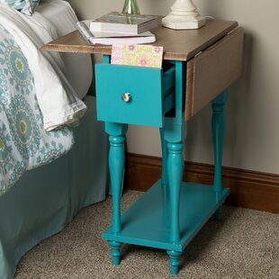 Sophia Wood Top Drop Leaf End Table