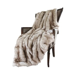 Demartino Faux Fur Throw by Wade Logan Discount