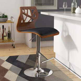 Mcdowell Swivel Adjustable Height Swivel Bar Stool by Wade Logan