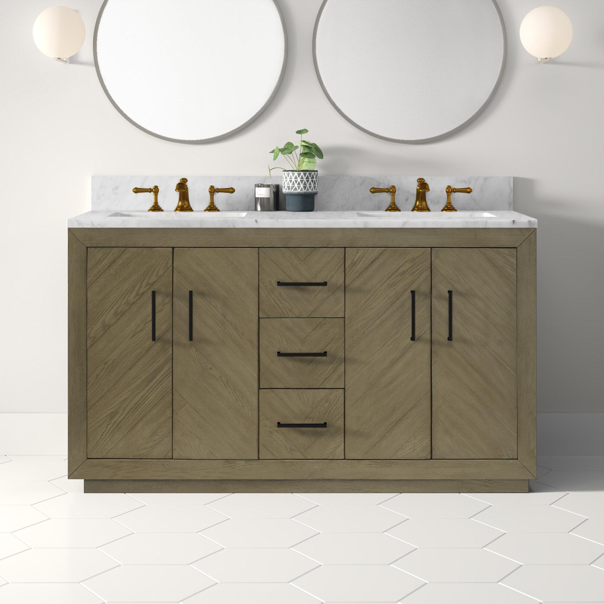 Kolton 60 Double Bathroom Vanity Set Reviews Allmodern