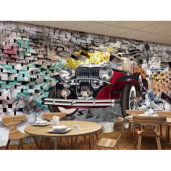 GK Wall Design Peel And Stick 3D Vintage Classic Car ...