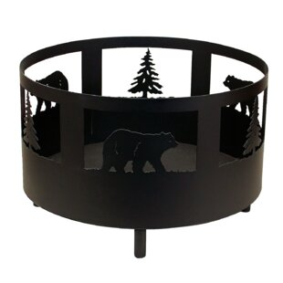 Coast Lamp Mfg. Bear and Tree Scene Metal..