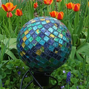 Modest Mosaic Glass Outdoor Solar Power Light Color Changing Lawn Ball Lantern Led Light Yard Garden Holiday Decoration Lighting Lamps Security & Protection Access Control Kits