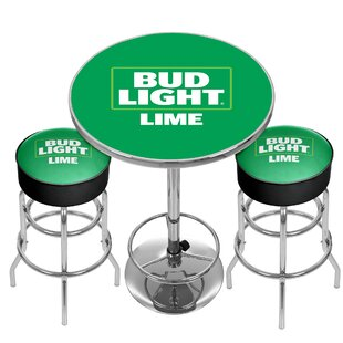 Bud Light 3 Piece Pub Table Set Trademark Global