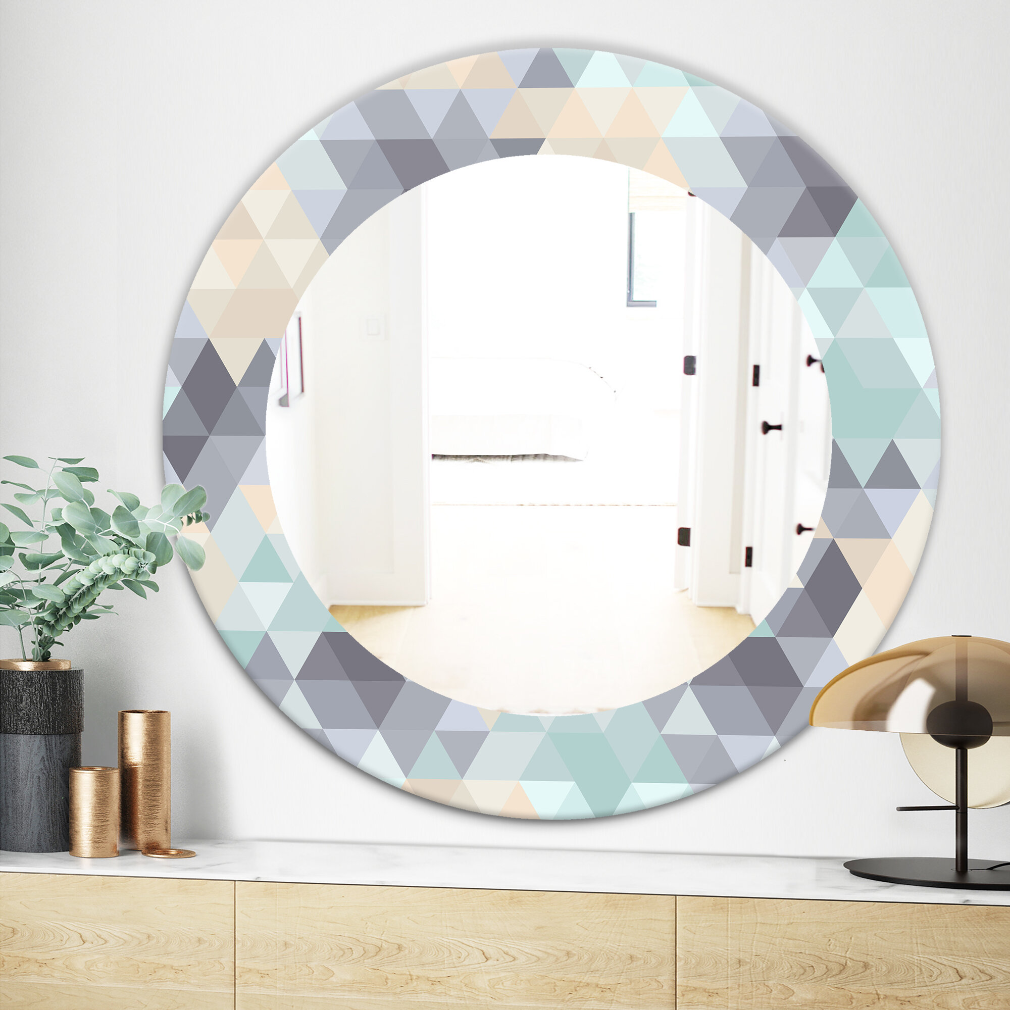 East Urban Home Triangular Wall Mirror Wayfair