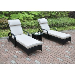 JB Patio 3 Piece Seating Group with Cushion
