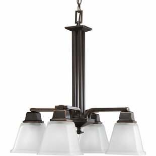 Thane 4-Light Shaded Chandelier by Latitude Run