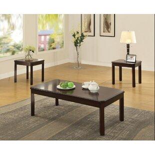 Winston Porter Kitson Wooden 3 Piece Coffee Table Set