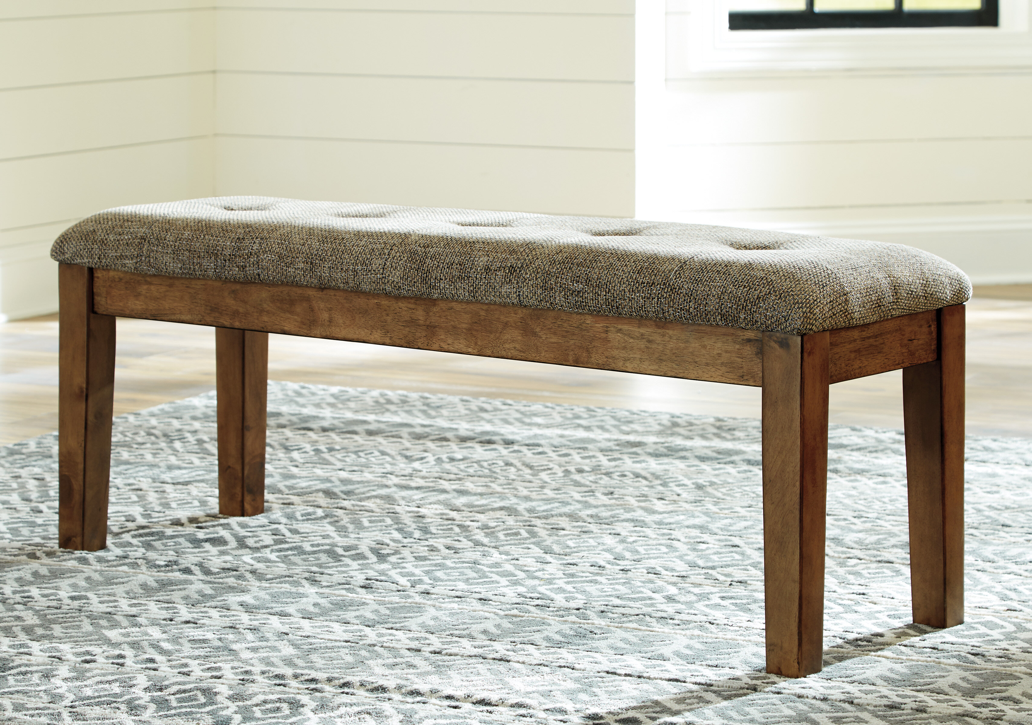 Millwood Pines Fia Upholstered Bench Reviews Wayfair