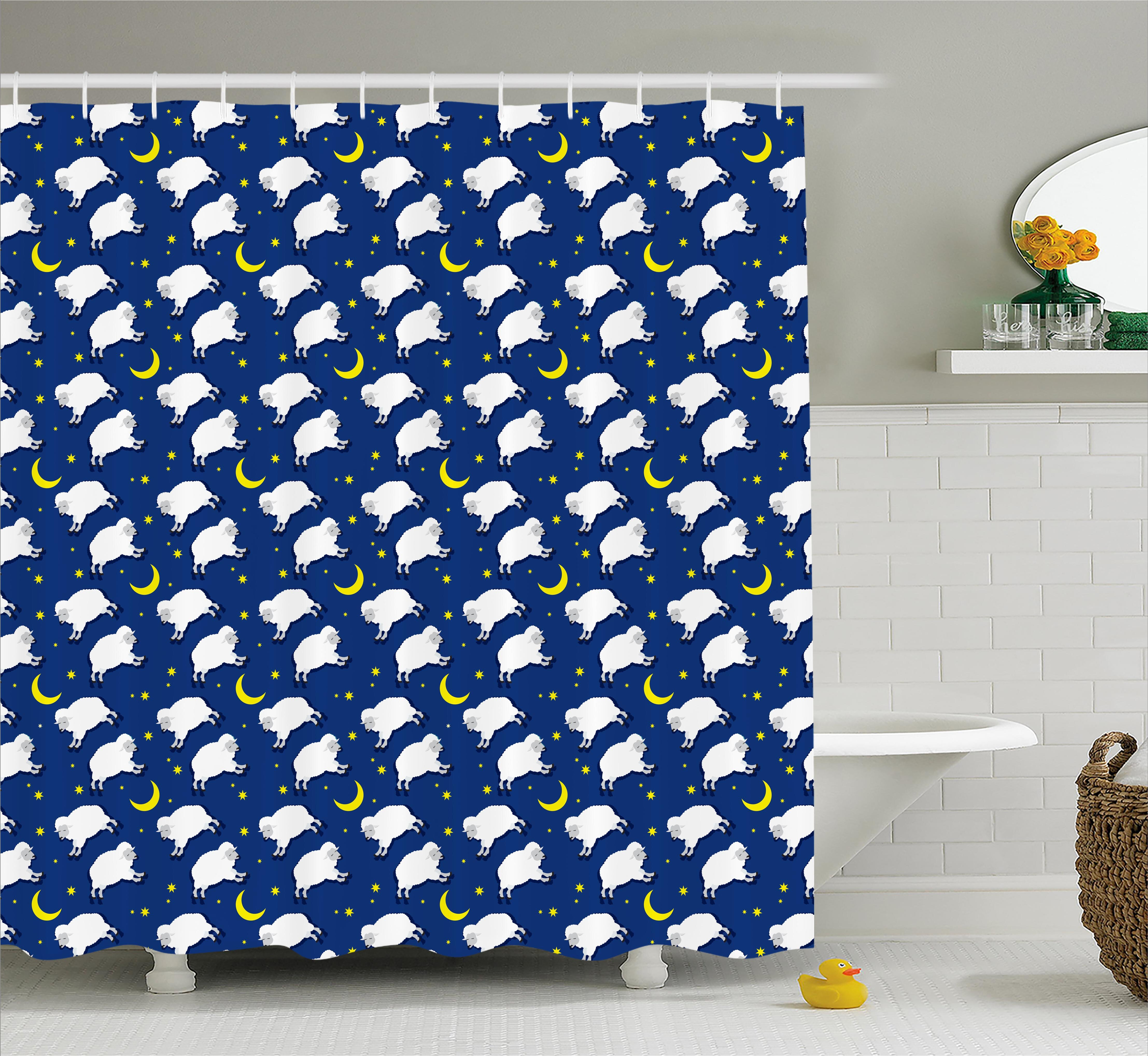 Zoomie Kids Luella Crescent Moon And Stars Shower Curtain