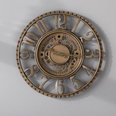 "Knoll 15.5"" Open Dial Gear Wall Clock"