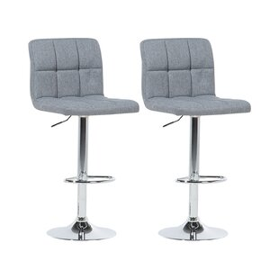 Seamus Height Adjustable Swivel Bar Stool (Set Of 2) By Metro Lane