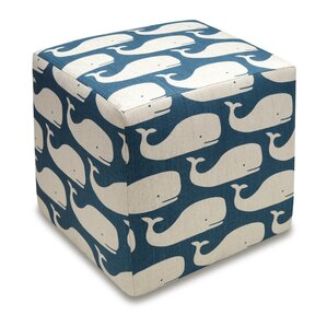 Whales Cube Ottoman by 123 Creations