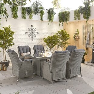 Melara 6 Seater Dining Set With Cushions By Sol 72 Outdoor