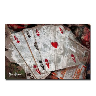 'Poker II' Graphic Art on Canvas By Winston Porter