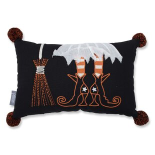 Douglas Wicked Witch Halloween Rectangular Cotton Lumbar Pillow