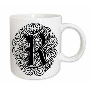 fancy letter r coffee mug