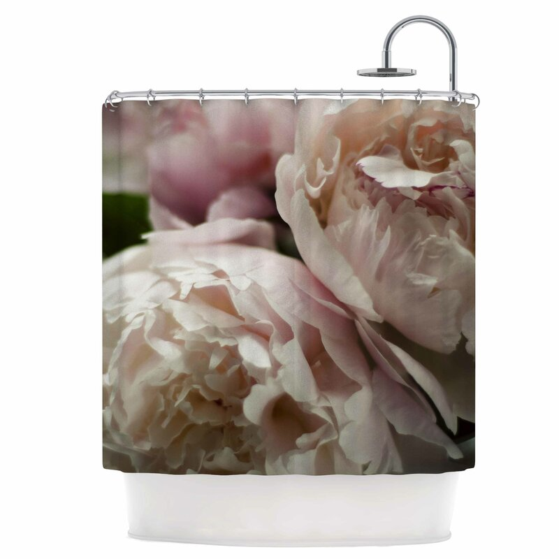 East Urban Home Peonies Shower Curtain