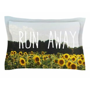 Chelsea Victoria 'Run Away' Travel Typography Sham