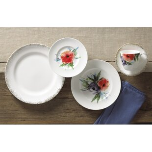 Passion Bloom Bone China 5 Piece Place Setting, Service for 1