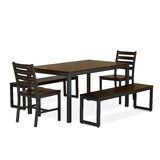 Orma 5 Piece Solid Wood Dining Set by Latitude Run®