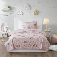 Pillowcase s Twin Unicorn Girls Sheet Set Includes Wrinkle Free Flat Queenwest Ultra Soft Microfiber Beautiful Unicorns Sheets with Rainbow Mane /& Tail and Stars Fitted