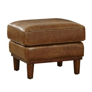 Knowles Leather Ottoman