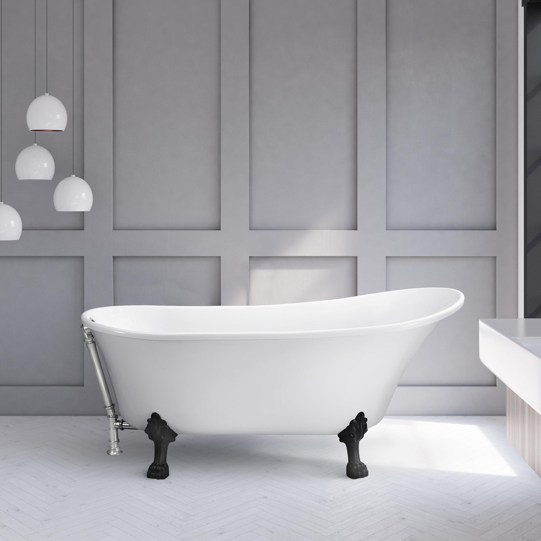 Streamlinebath 60 X 28 Freestanding Soaking Bathtub Wayfair Ca