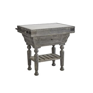One Allium Way Ryann Kitchen Island with Marble Top