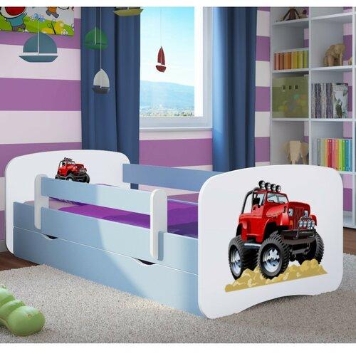 Funktionsbett Celaya mit Matratze und Schublade   Schlafzimmer > Betten > Funktionsbetten   Blau / weiß   Mdf - Holz   Roomie Kidz