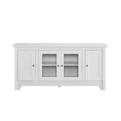 "Bracamonte TV Stand for TVs up to 55"" Color: White by Darby Home Co"