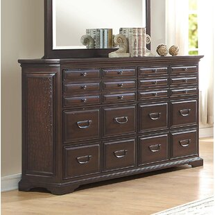 Bargain Getz Wooden 20 Drawer Double Dresser by Astoria Grand