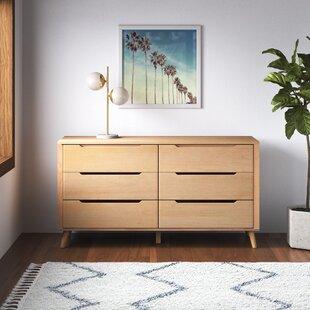 Modern Contemporary Lorraine 6 Drawer Dresser Allmodern