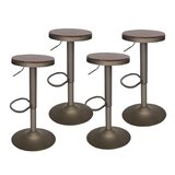 Metcalf Swivel Adjustable Height Bar Stool by 17 Stories