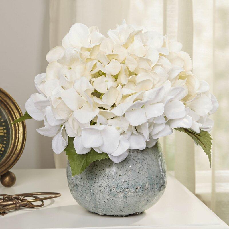 Birch lane faux white hydrangea reviews wayfair faux white hydrangea mightylinksfo
