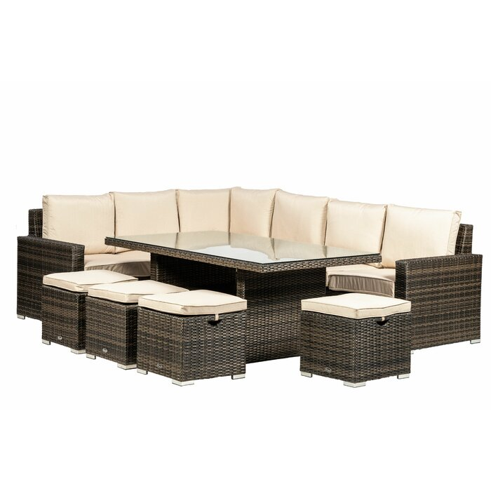 timeless design 5dc08 038f4 Venice 10 Seater Rattan Sofa Set