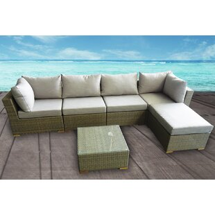 Hillside 6 Piece Sectional Set with Cushions by Latitude Run