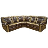 Frisco Leather 98 Symmetrical Reclining Sectional by Omnia Leather