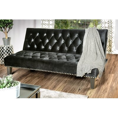 Gumbs Transitional Convertible Sofa Upholstery: Black by Alcott Hill