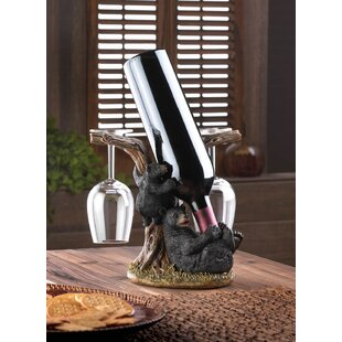 Zingz & Thingz Bear 1 Bottle Tabletop Wine Rack