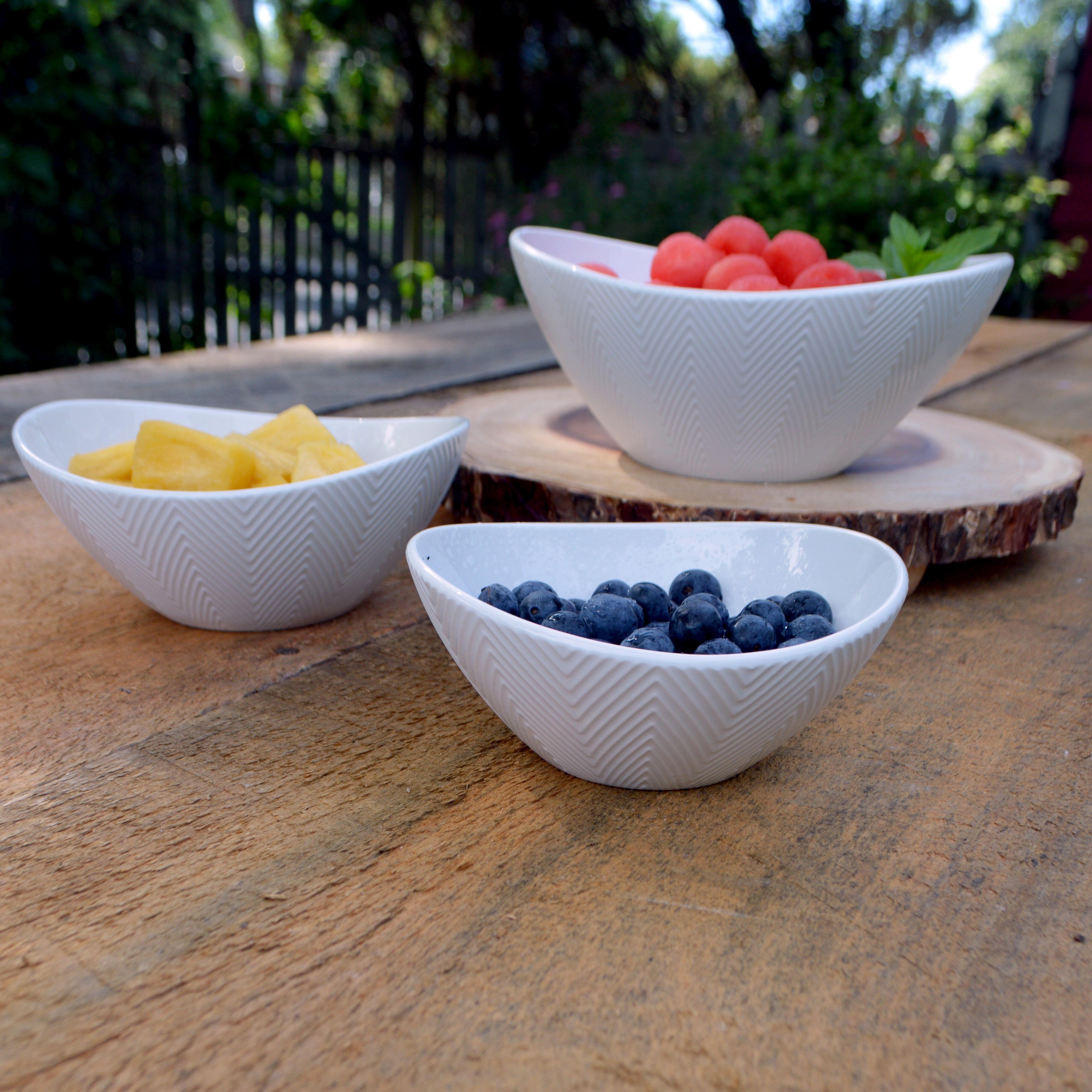 Microwave Safe Set Of 3 Serving Bowls You Ll Love In 2021 Wayfair