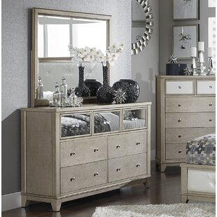 7 Drawer Double Dresser with Mirror by Homelegance
